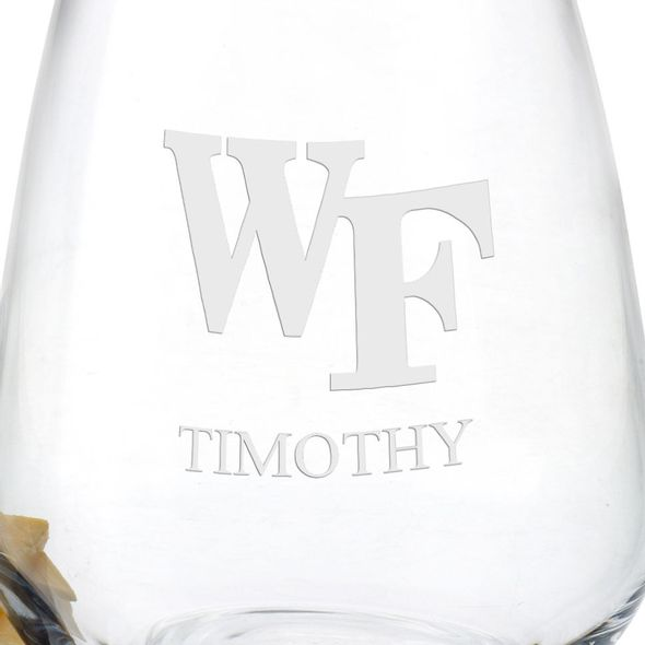 Wake Forest Stemless Wine Glasses - Set of 4 - Image 3