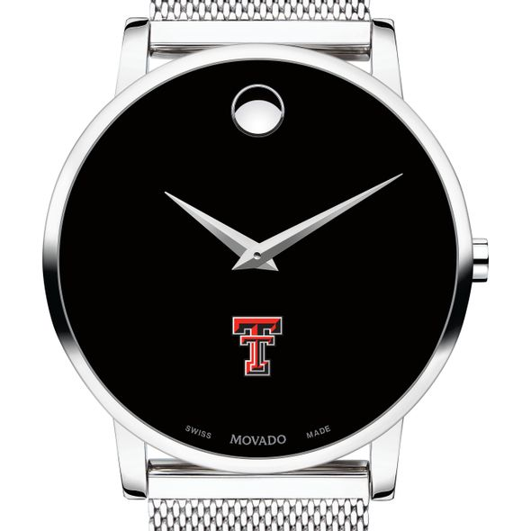 Texas Tech Men's Movado Museum with Mesh Bracelet