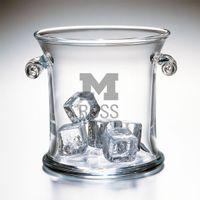 Michigan Ross Glass Ice Bucket by Simon Pearce