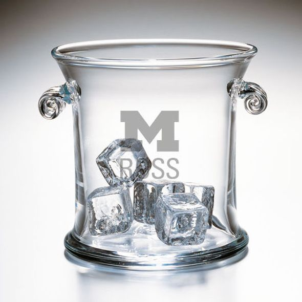 Michigan Ross Glass Ice Bucket by Simon Pearce - Image 1
