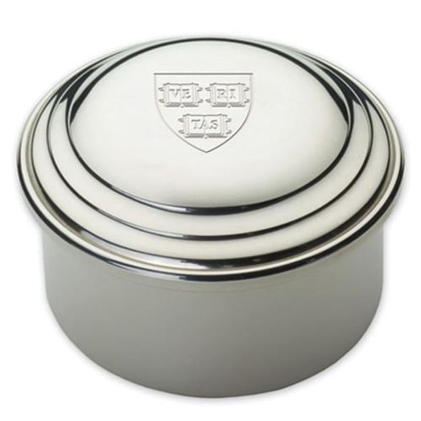 Harvard Pewter Keepsake Box - Image 1