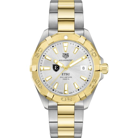 East Tennessee State University Men's TAG Heuer Two-Tone Aquaracer - Image 2