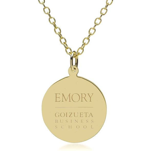 Emory Goizueta 18K Gold Pendant & Chain