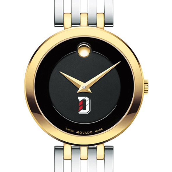 Davidson College Women's Movado Esparanza Two-Tone Museum with Bracelet