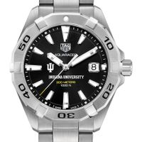 Indiana University Men's TAG Heuer Steel Aquaracer with Black Dial