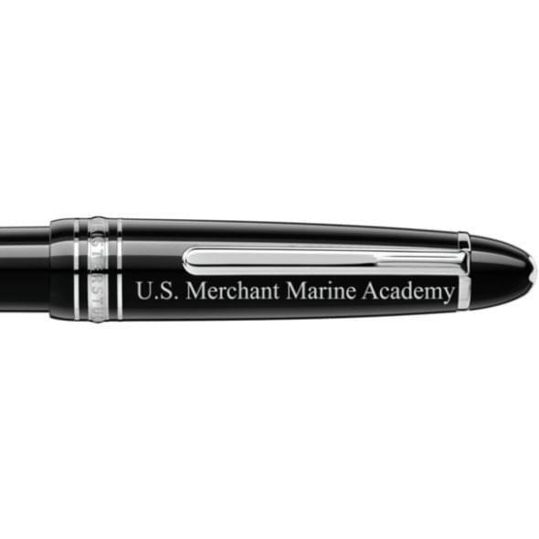 US Merchant Marine Academy Montblanc Meisterstück LeGrand Ballpoint Pen in Platinum - Image 2