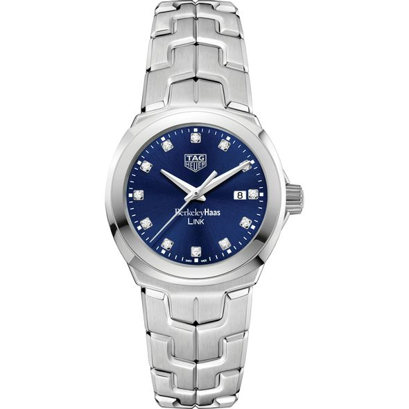 Berkeley Haas Women's TAG Heuer Link with Blue Diamond Dial - Image 2