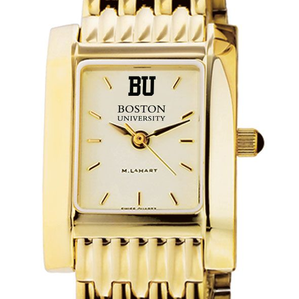 Boston University Women's Gold Quad with Bracelet