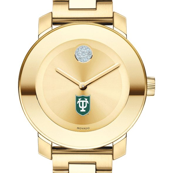 Tulane University Women's Movado Gold Bold