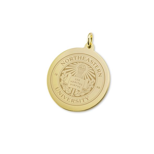 Northeastern 14K Gold Charm