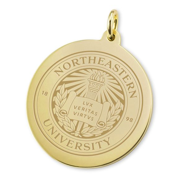 Northeastern 14K Gold Charm - Image 2