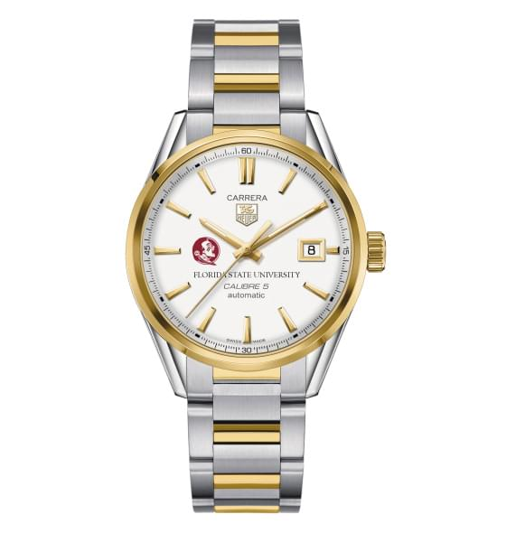 Florida State Men's TAG Heuer Two-Tone Carrera with Bracelet - Image 2