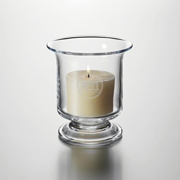 NYU Glass Hurricane Candleholder by Simon Pearce - Image 2