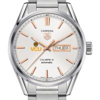 Virginia Commonwealth University Men's TAG Heuer Day/Date Carrera with Silver Dial & Bracelet