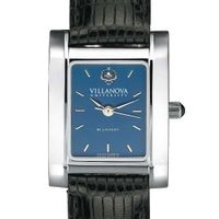 Villanova Women's Blue Quad Watch with Leather Strap