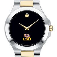 LSU Men's Movado Collection Two-Tone Watch with Black Dial