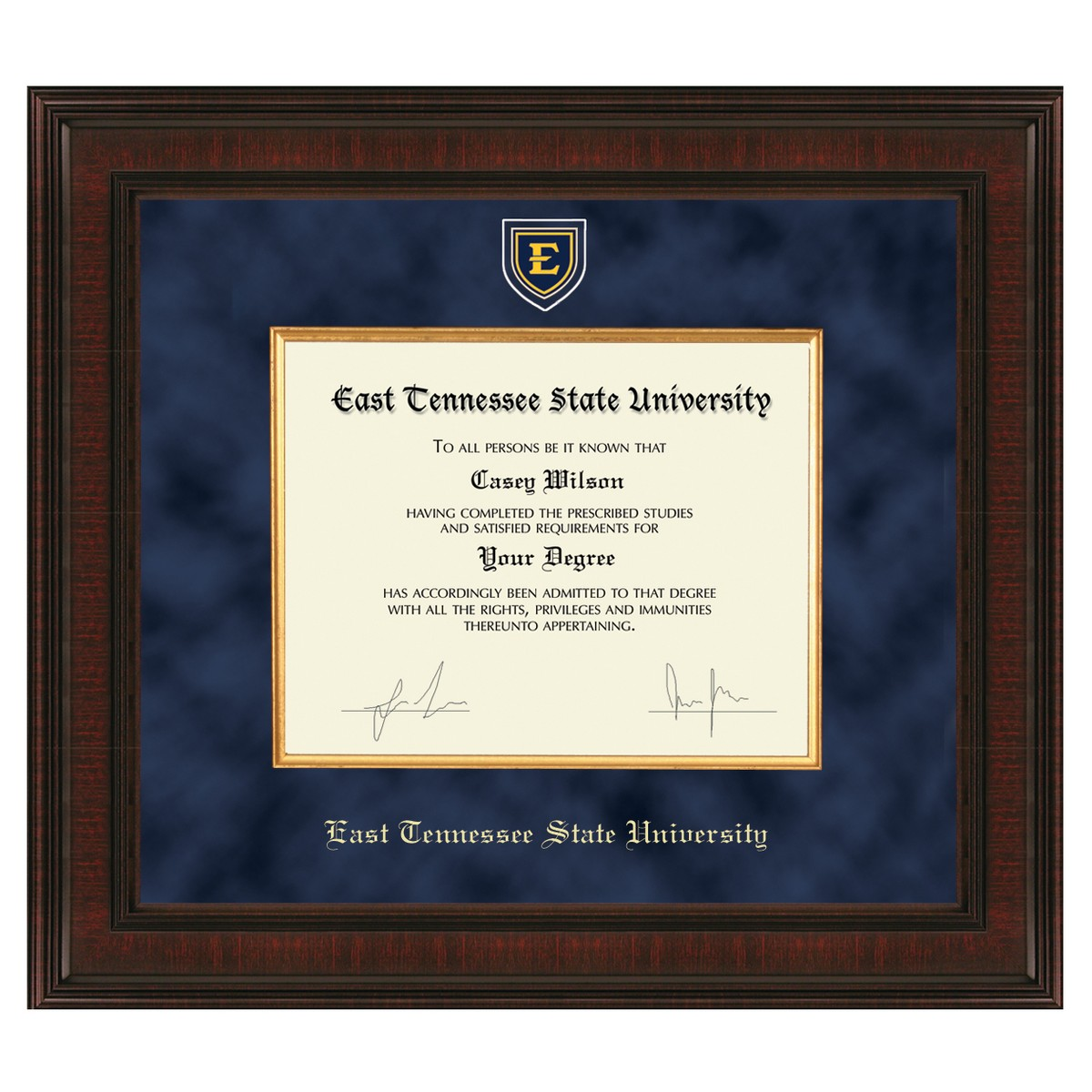 East Tennessee State University Diploma Frame Excelsior
