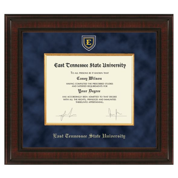 East Tennessee State University Diploma Frame - Excelsior