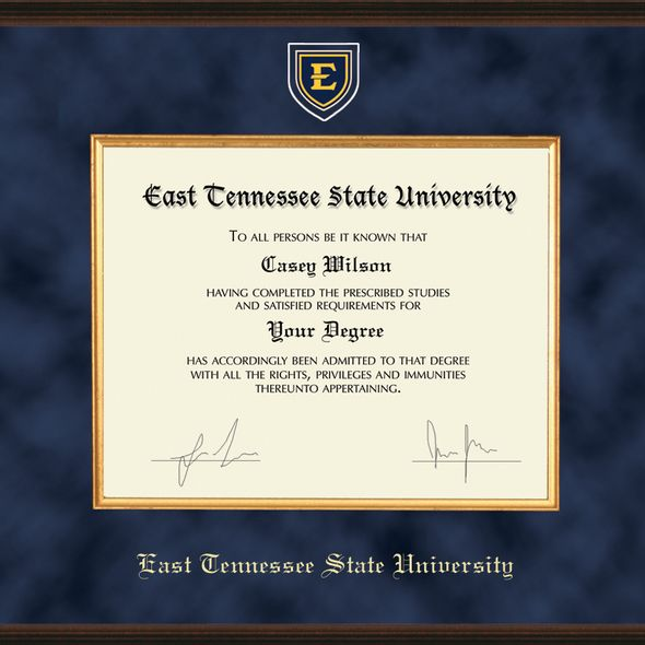 East Tennessee State University Diploma Frame - Excelsior - Image 2