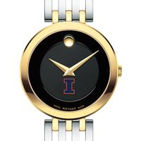 University of Illinois Women's Movado Esparanza Two-Tone Museum with Bracelet