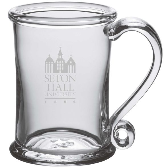 Seton Hall Glass Tankard by Simon Pearce - Image 1