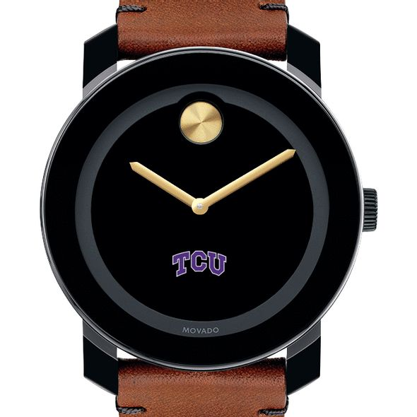 Texas Christian University Men's Movado BOLD with Brown Leather Strap