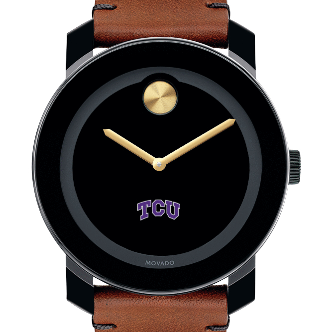 TCU Men's Movado BOLD with Brown Leather Strap