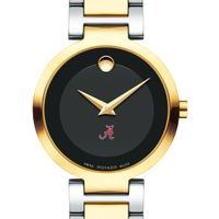 University of Alabama Women's Movado Two-Tone Modern Classic Museum with Bracelet