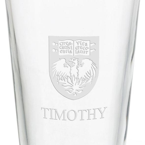 University of Chicago 16 oz Pint Glass - Image 3
