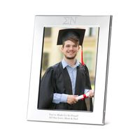 Sigma Nu Polished Pewter 5x7 Picture Frame