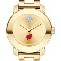 University of Wisconsin Women's Movado Gold Bold