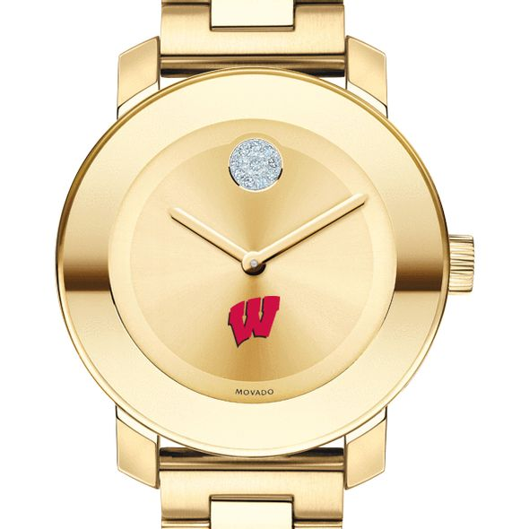 University of Wisconsin Women's Movado Gold Bold