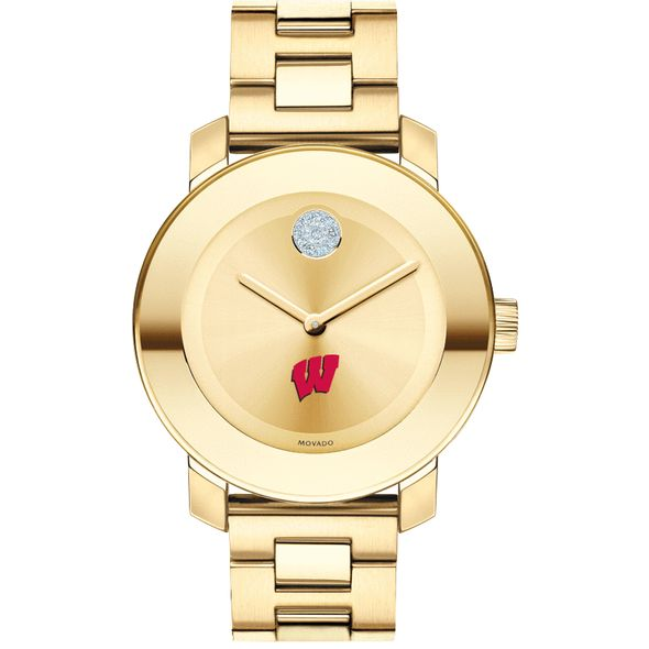 University of Wisconsin Women's Movado Gold Bold - Image 2