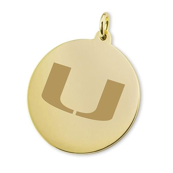 Miami 18K Gold Charm - Image 1