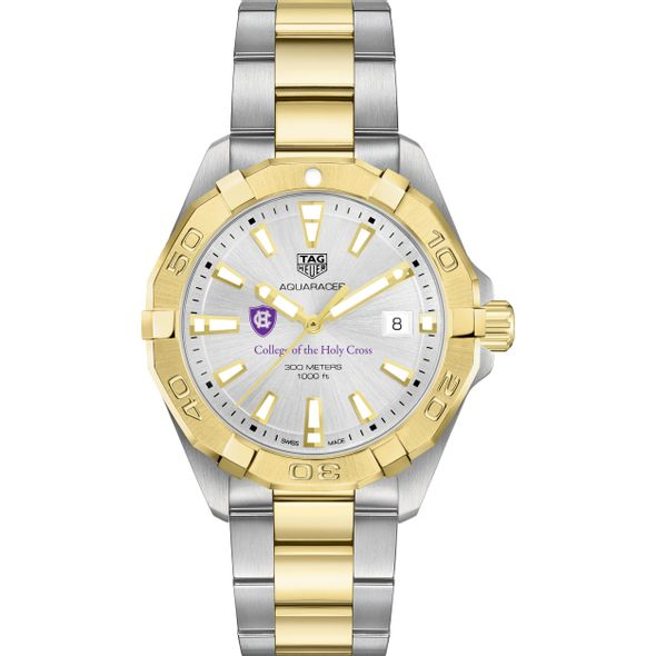 Holy Cross Men's TAG Heuer Two-Tone Aquaracer - Image 2