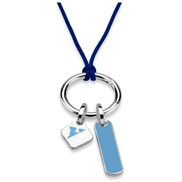 Johns Hopkins University Silk Necklace with Enamel Charm & Sterling Silver Tag - Image 2