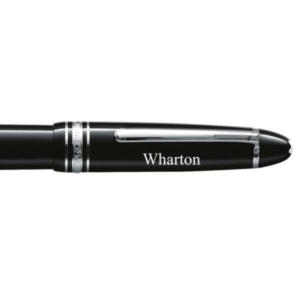 Wharton Montblanc Meisterstück LeGrand Rollerball Pen in Platinum - Image 2