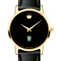 Tulane University Women's Movado Gold Museum Classic Leather
