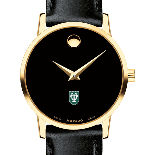Tulane Women's Movado Gold Museum Classic Leather