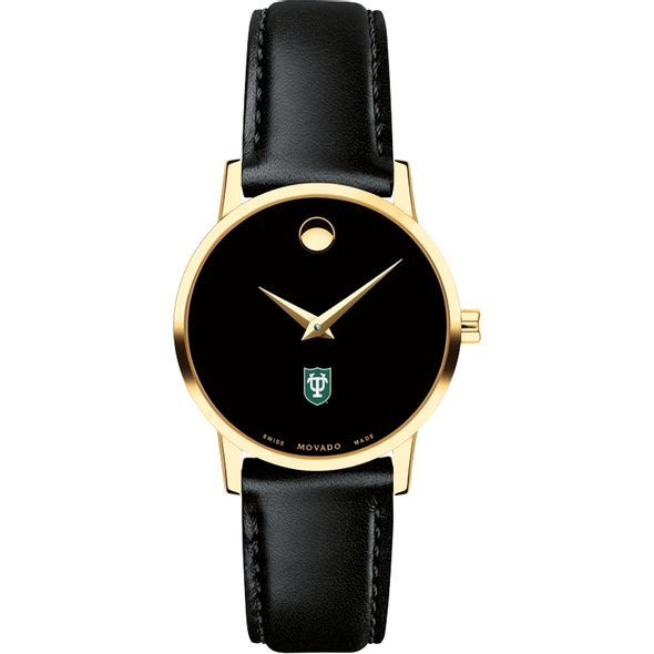 Tulane Women's Movado Gold Museum Classic Leather - Image 2