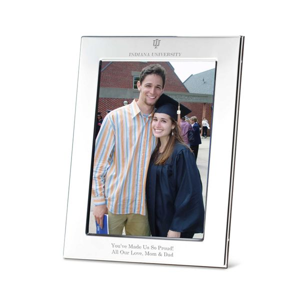Indiana University Polished Pewter 5x7 Picture Frame