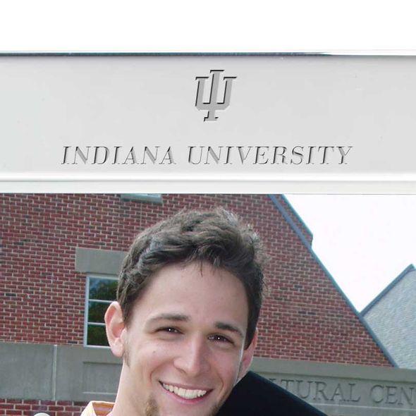 Indiana University Polished Pewter 5x7 Picture Frame - Image 2