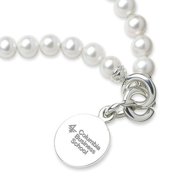 Columbia Business Pearl Bracelet with Sterling Silver Charm - Image 2