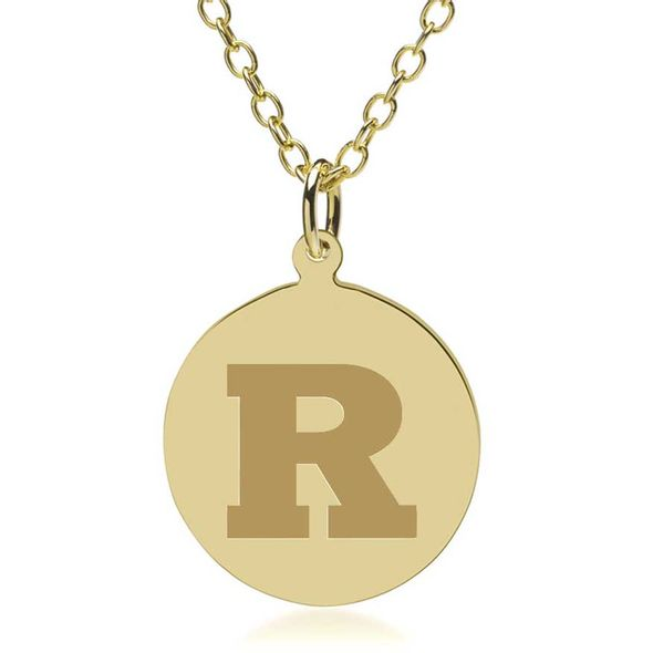 Rutgers University 18K Gold Pendant & Chain