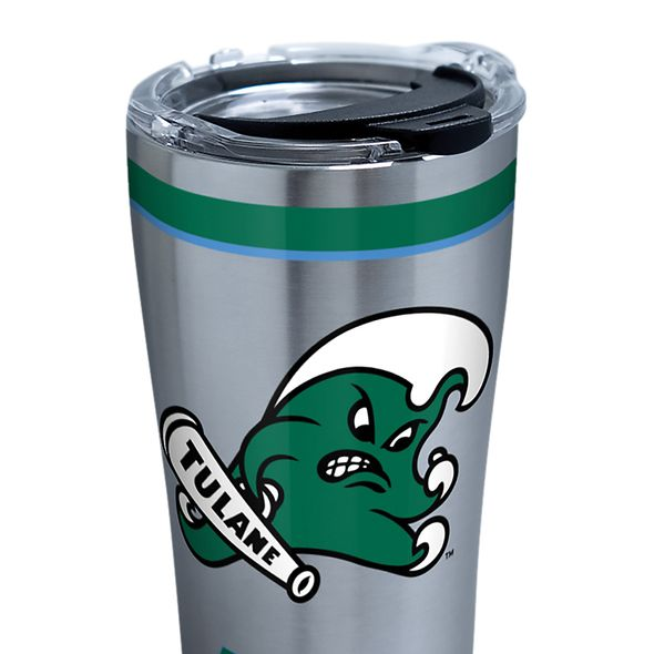 Tulane 20 oz. Stainless Steel Tervis Tumblers with Hammer Lids - Set of 2 - Image 2