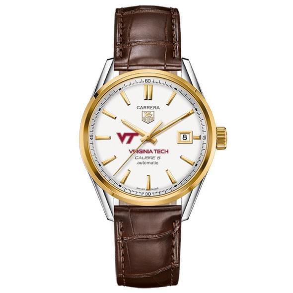 Virginia Tech Men's TAG Heuer Two-Tone Carrera with Strap - Image 2