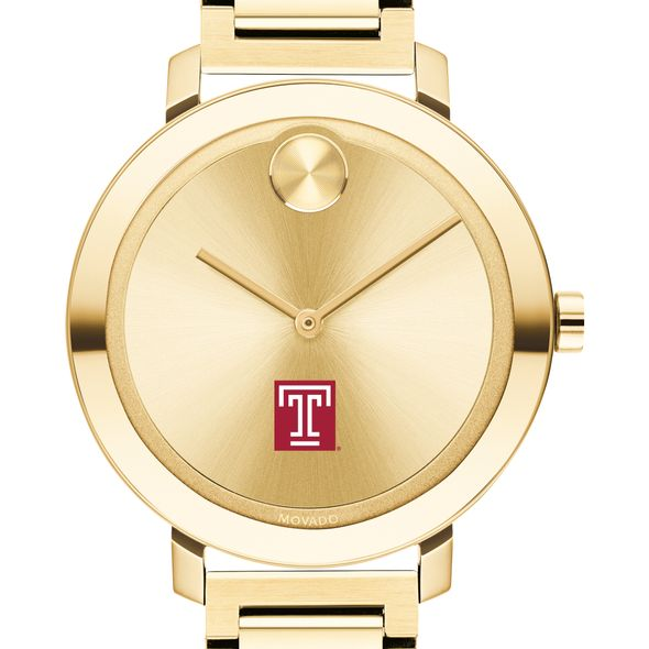 Temple University Women's Movado Gold Bold 34