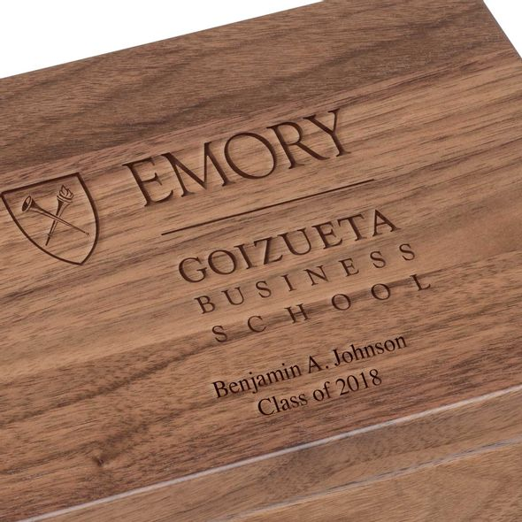 Emory Goizueta Solid Walnut Desk Box - Image 3