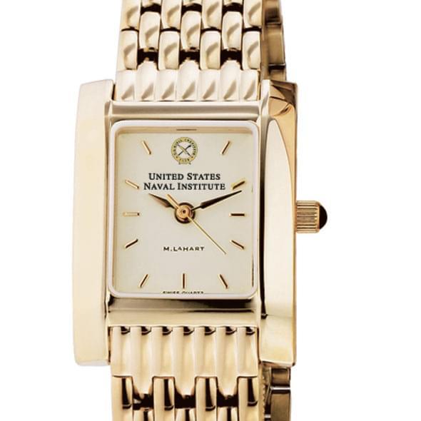 USNI Women's Gold Quad Watch with Bracelet