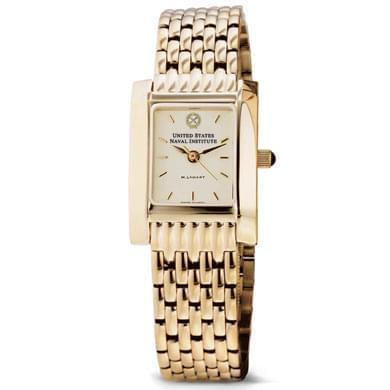 USNI Women's Gold Quad Watch with Bracelet - Image 2